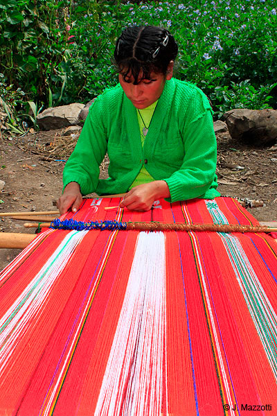 Young native in Willoc - Textil Art